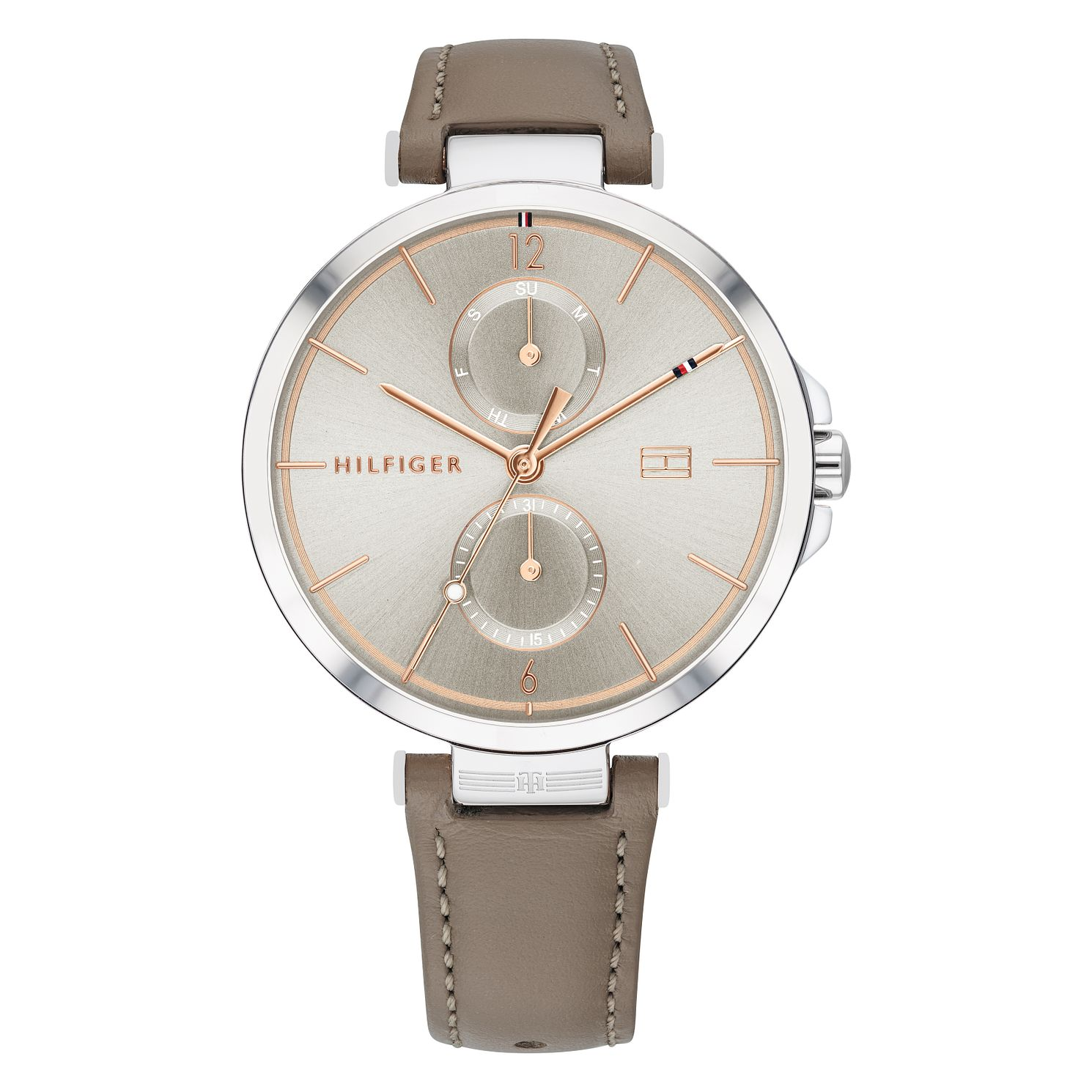Tommy Hilfiger Angela Ladies' Taupe Leather Strap Watch - Product number 2778238