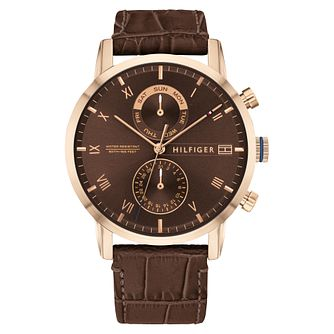 Tommy Hilfiger Kane Men's Brown Leather Strap Watch - Product number 2778378