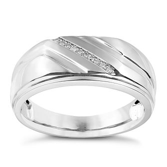 Sterling Silver & Diamond Signet Ring - Product number 2784785