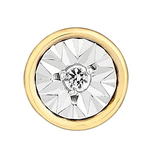 Men's 9ct Yellow Gold Round Diamond Stud Earring - Product number 2786451