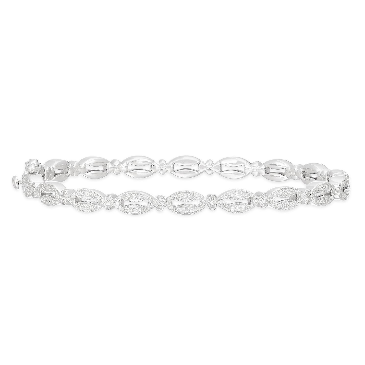 Neil Lane Designs Silver 1/4ct Diamond Fancy Bangle - Product number 2787709
