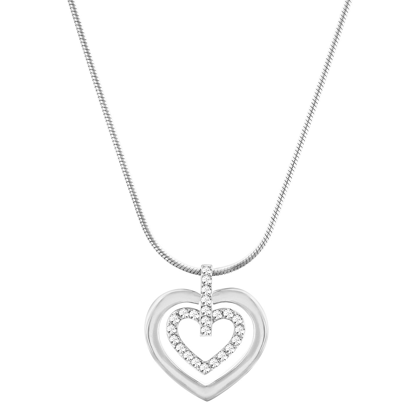 Swarovski Crystal Double Heart Pendant. - Product number 2788284
