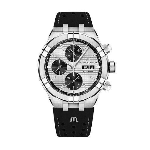 Maurice Lacroix Aikon Men's Black Leather Strap Watch - Product number 2791862