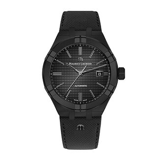 Maurice Lacroix Aikon Men's Black Leather Strap Watch - Product number 2791897