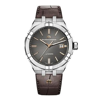 Maurice Lacroix Aikon Men's Brown Leather Strap Watch - Product number 2791900
