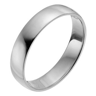 Platinum 4mm Heavy D Shape Ring - Product number 2794330