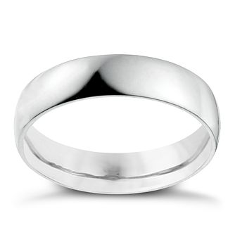 Platinum 5mm Heavy D Shape Ring - Product number 2794586