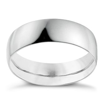 Platinum 6mm Heavy D Shape Ring - Product number 2794888