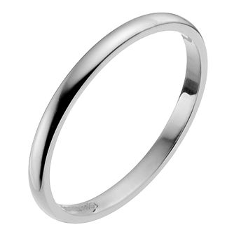 Platinum 2mm Extra Heavy D Shape Ring - Product number 2795493