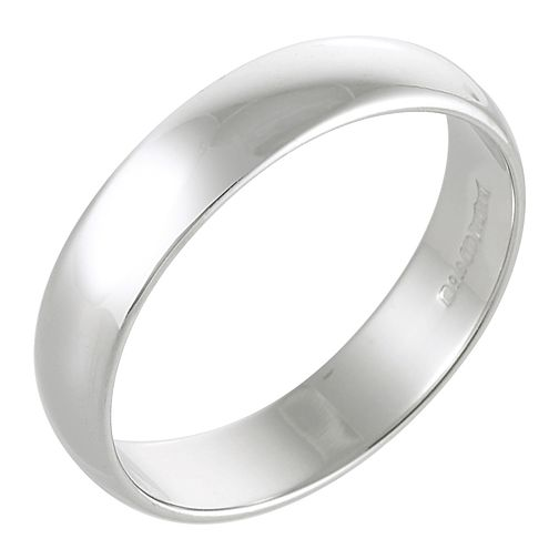 Platinum 5mm Extra Heavy D Shape Ring - Product number 2796236