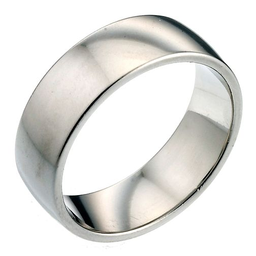 Platinum 7mm Extra Heavy Court Ring - Product number 2798247