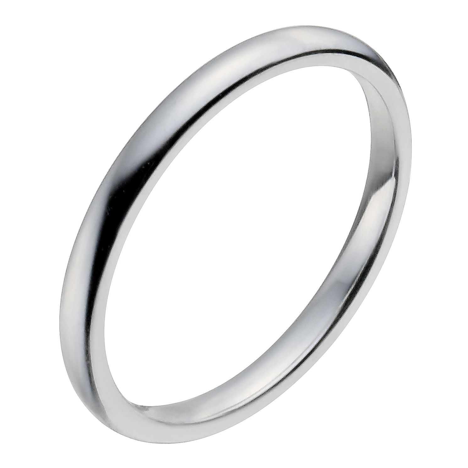 Platinum 2mm Super Heavy Court Ring - Product number 2798867