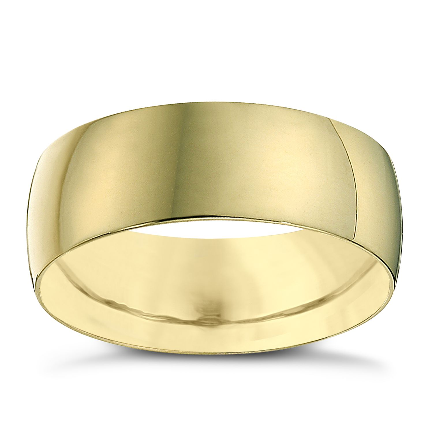 22ct Yellow Gold 7mm Heavy D Shape Ring - Product number 2799340