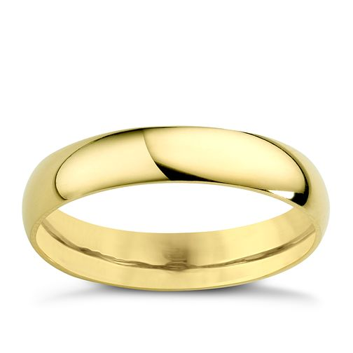 22ct Yellow Gold 4mm Extra Heavy D Shape Ring - Product number 2800144