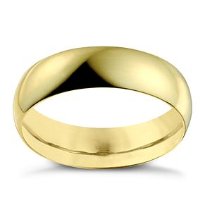 22ct Yellow Gold 6mm Extra Heavy D Shape Ring - Product number 2800683