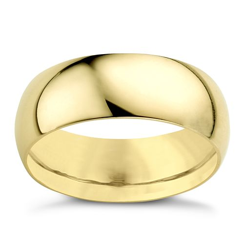 22ct Yellow Gold 7mm Extra Heavy D Shape Ring - Product number 2800993