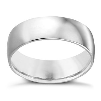 18ct White Gold 7mm Extra Heavy Court Ring - Product number 2804980