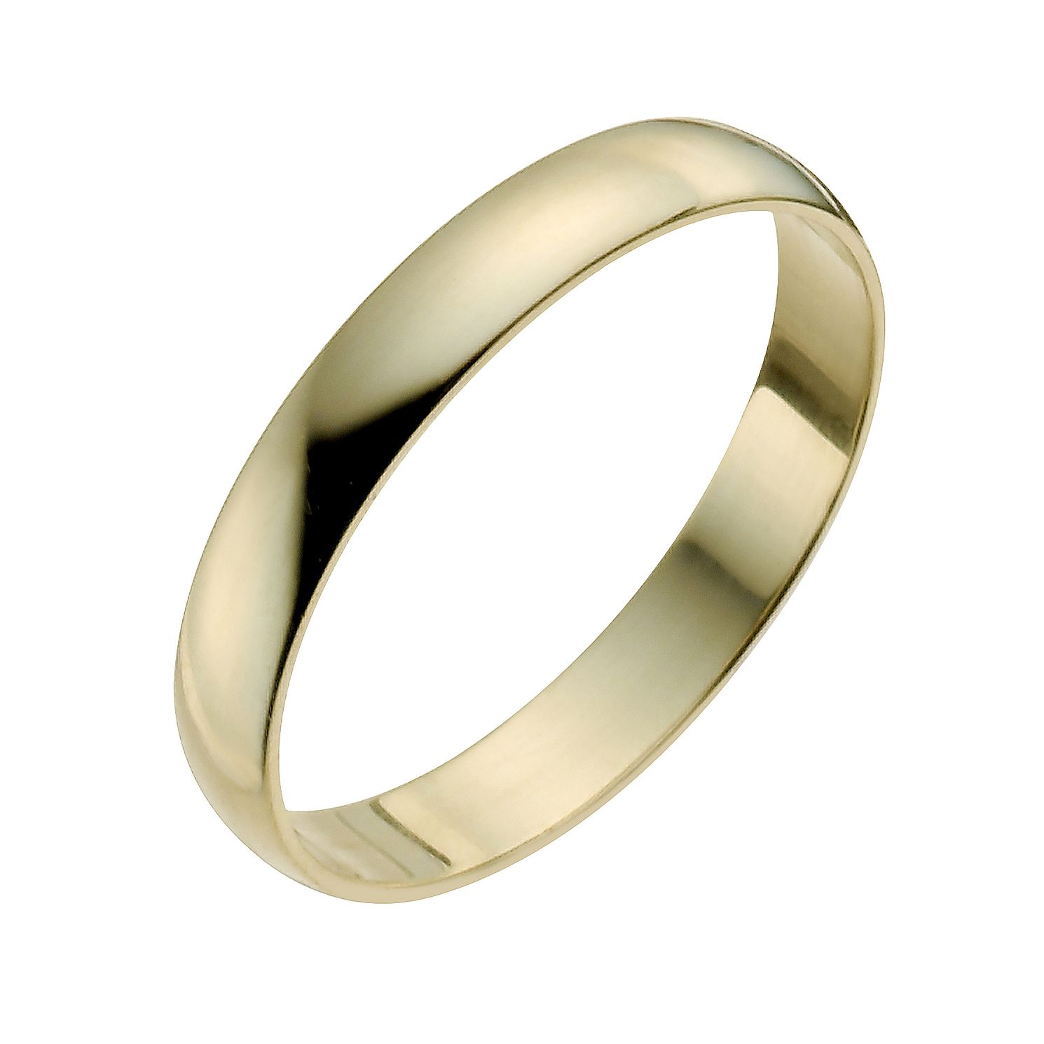 22ct Yellow Gold 3mm Heavy D Shape Ring - Product number 2809877