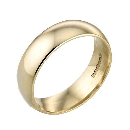 18ct Yellow Gold 6mm Super Heavy Court Ring - Product number 2810174