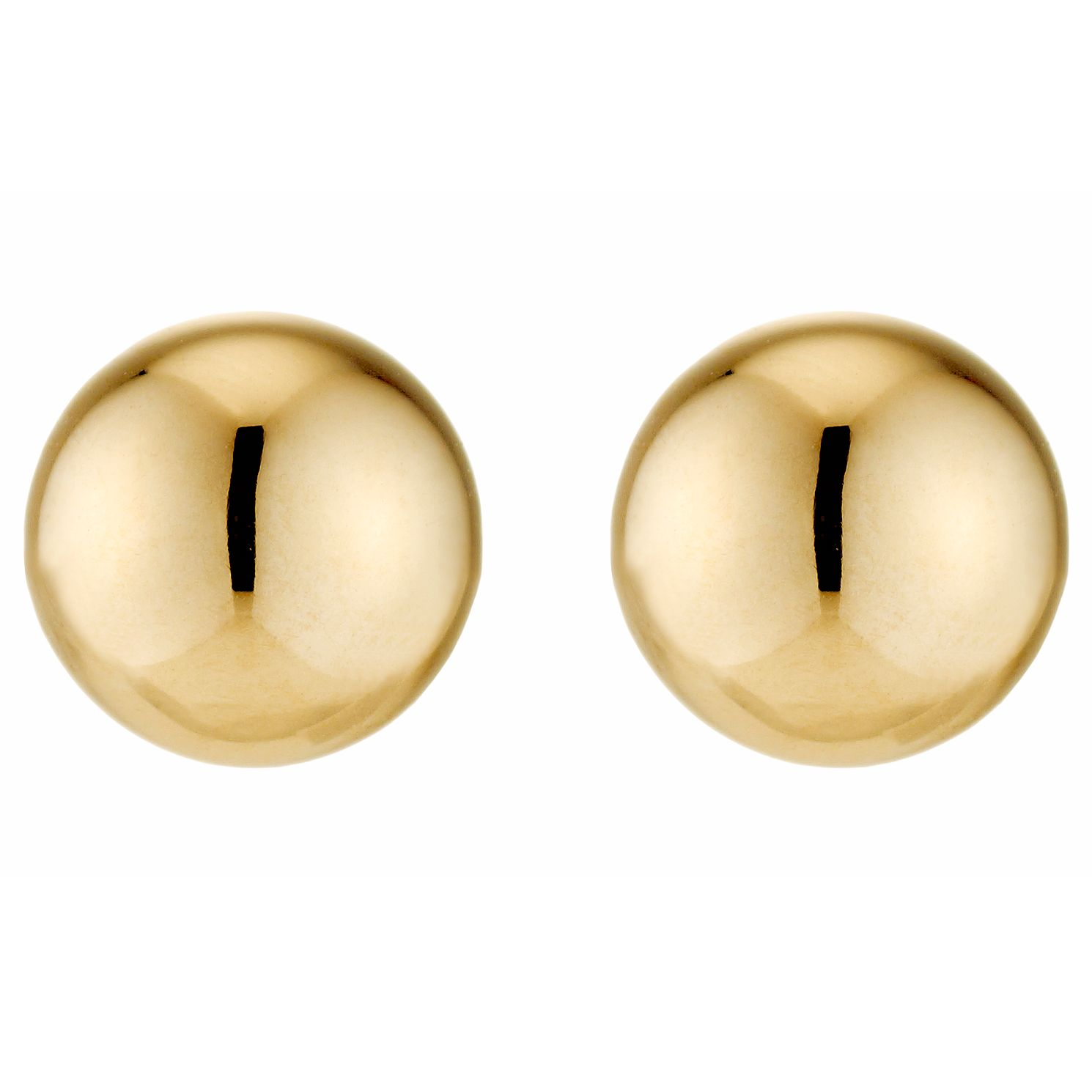 9ct Yellow Gold 7mm Ball Stud Earrings - Product number 2811049