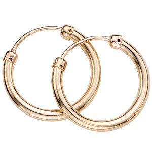 9ct Gold Hoop Earrings - Product number 2811081