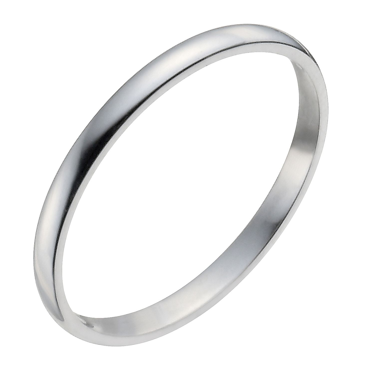 Palladium 950 2mm Heavy D Shape Ring - Product number 2811898