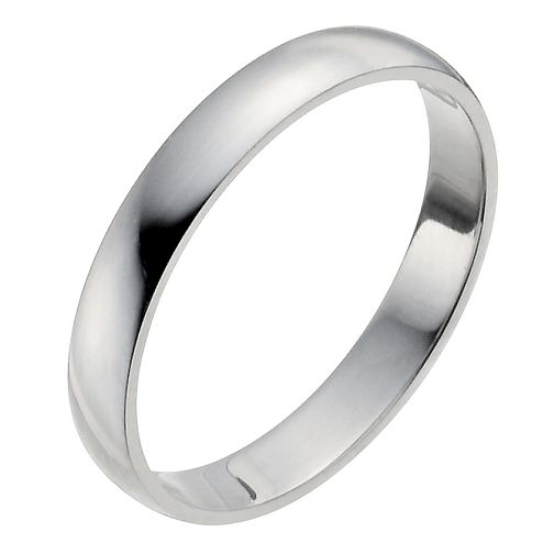 Palladium 950 3mm Heavy D Shape Ring - Product number 2812681
