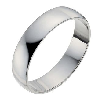 Palladium 950 5mm Heavy D Shape Ring - Product number 2814420