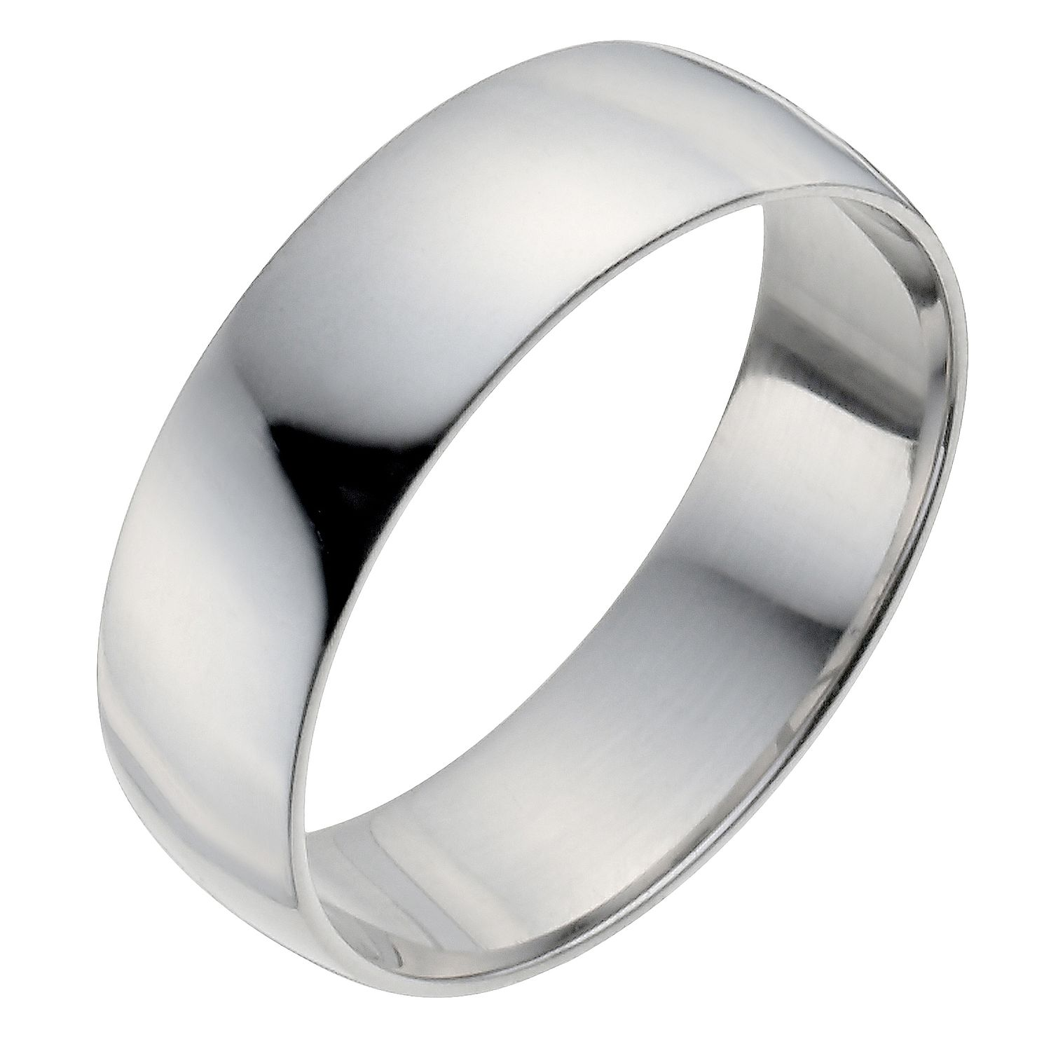 Palladium 950 6mm Heavy D Shape Ring - Product number 2815249