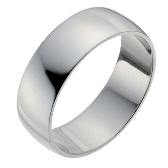 Palladium 950 7mm Heavy D Shape Ring - Product number 2816601