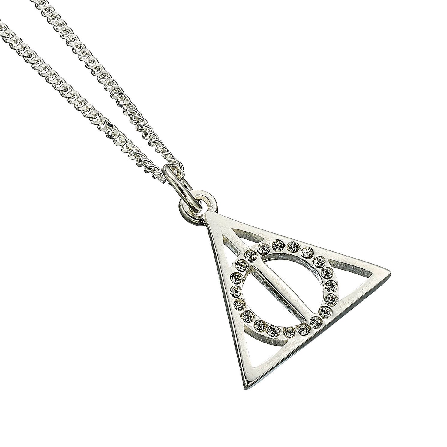 Harry Potter Silver & Crystal Deathly Hallows Necklace - Product number 2822032