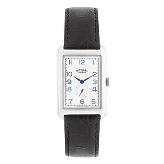 Rotary Men's Portland Black Leather Strap Watch - Product number 2826852