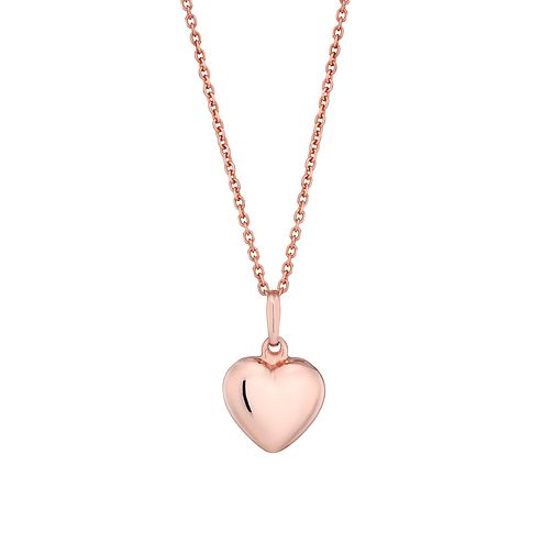 Silver and rose gold-plated heart pendant - Product number 2828049