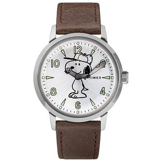 Timex Peanut Collection Snoopy Men's Brown Strap Watch - Product number 2831902