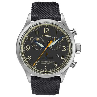 Timex Waterbury Men's Black Rubber Strap Watch - Product number 2831910