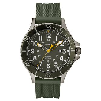 Timex Allied Men's Stainless Steel Green Strap Watch - Product number 2832011