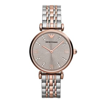 Emporio Armani Ladies' Two Colour Bracelet Watch - Product number 2832534