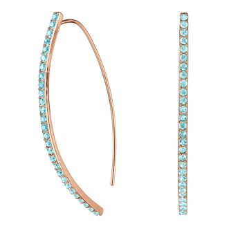 Adore Ladies' Rose Gold Plated Sapphire Pave Arc Earrings - Product number 2833174