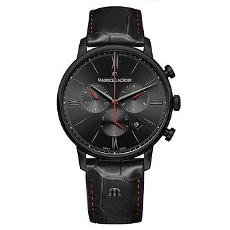 Maurice Lacroix Eliros Men's Black Leather Strap Watch - Product number 2834065