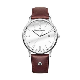 Maurice Lacroix Eliros Men's Brown Leather Strap Watch - Product number 2834197