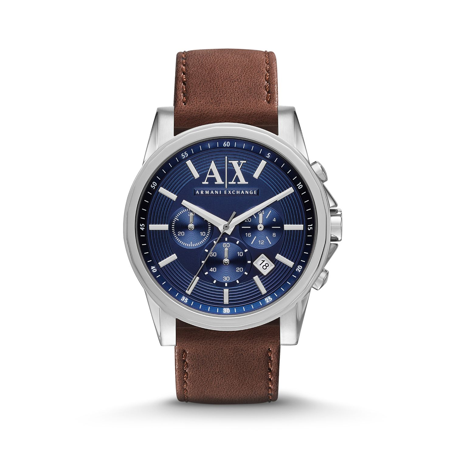 Buy Armani Exchange Watches Online Hsamuel Huawei Watch Stainless Steel With Link Band Us Warranty Mens Brown Leather Strap Product Number 2834219