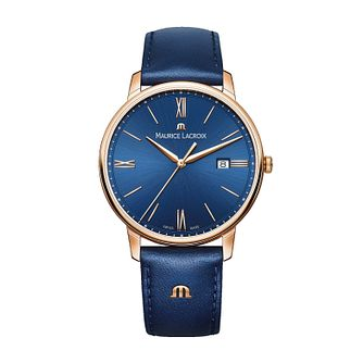 Maurice Lacroix Eliros Men's Blue Leather Strap Watch - Product number 2834227