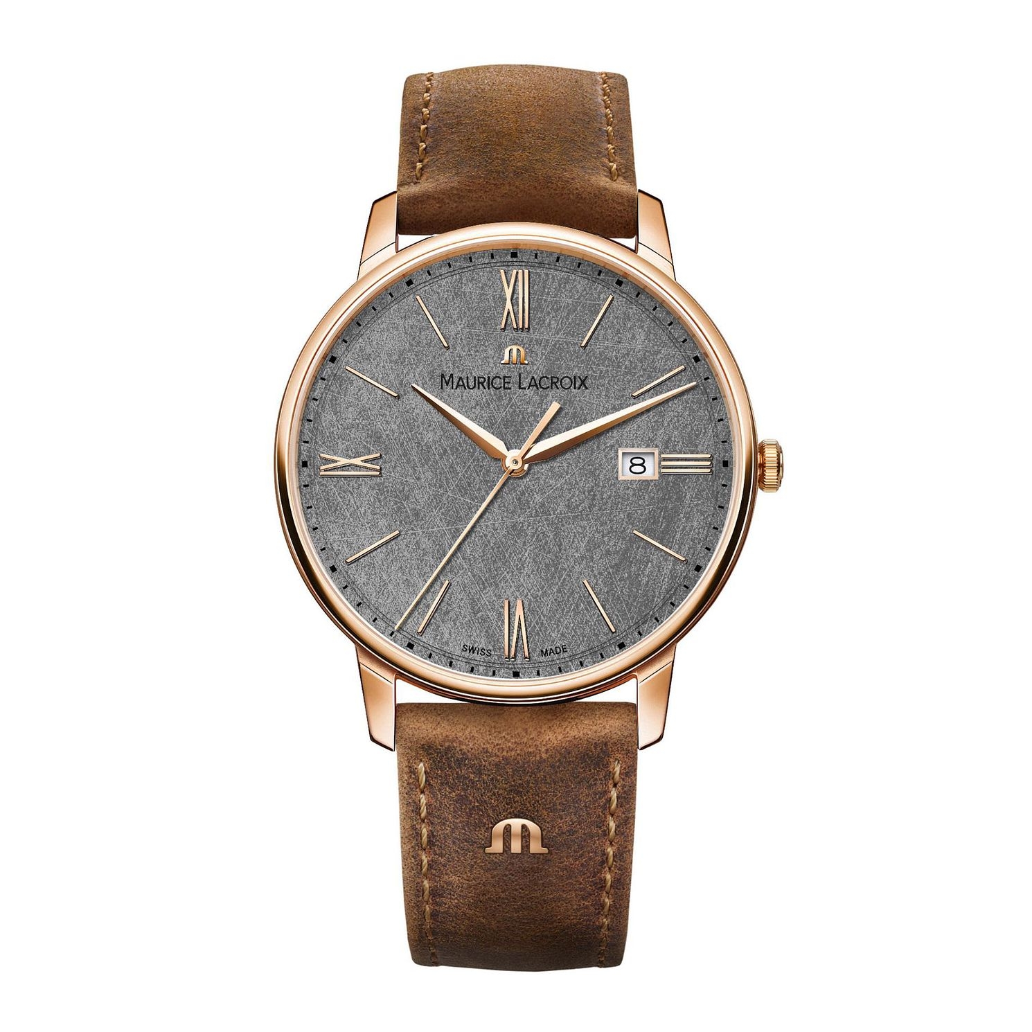 Maurice Lacroix Eliros Men's Brown Leather Strap Watch - Product number 2834235