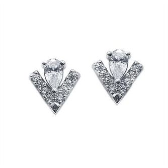 CARAT* LONDON Victoria Sterling Silver Stud Earrings - Product number 2834685