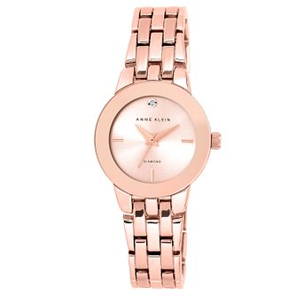 Anne Klein Ladies' Rose Gold Plate Diamond Bracelet Watch - Product number 2839407