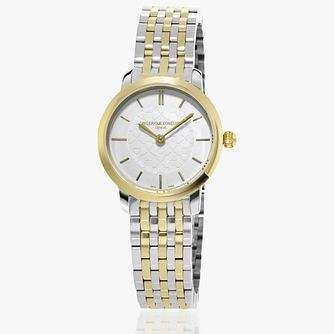 Frederique Constant Slimline Ladies' Two-Tone Bracelet Watch - Product number 2839555
