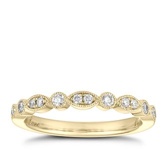 Neil Lane 14ct Yellow Gold 0.18ct Diamond Marquise Ring - Product number 2842343