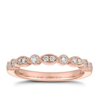 Neil Lane 14ct Rose Gold 0.18ct Diamond Marquise Ring - Product number 2842475