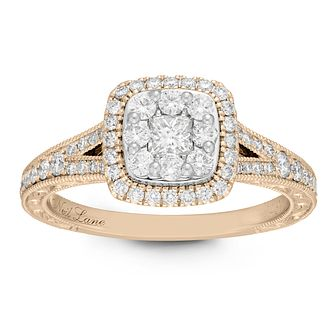 Neil Lane 14ct Yellow Gold 0.69ct Princess Cut Diamond Ring - Product number 2842742