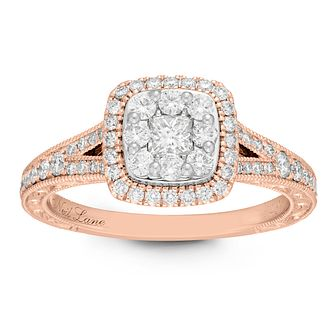 Neil Lane 14ct Rose Gold 0.69ct Princess Cut Diamond Ring - Product number 2842904